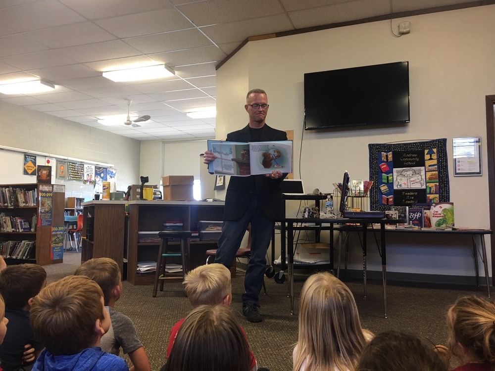 Author, Kurt Wagner, visits Andrew