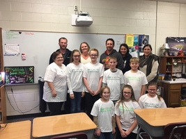 5th Grade students present their Hydroponics System to Andrew School Board