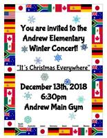 The Elementary Winter Program is on December 13th!