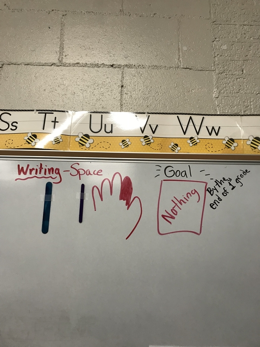 1st grade writing continuum