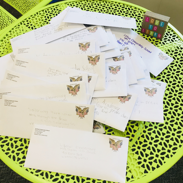 50 letters ready to go!