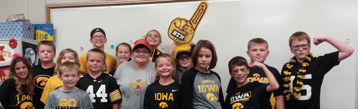 Iowa/Iowa State Day in 5th Grade.