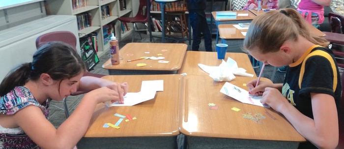 In Kathy's Krafts, LEAP students made cards for Encouragement Day.