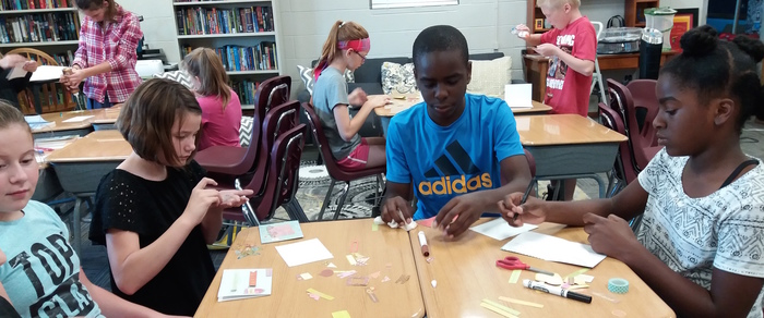 LEAP students made cards for Encouragement Day.