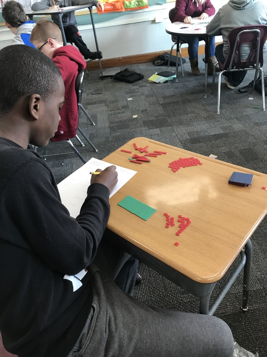 Algebra tiles in 7th grade