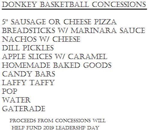 Donkey Basketball Concessions