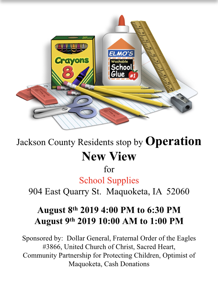 Free school supplies available at Operation New View