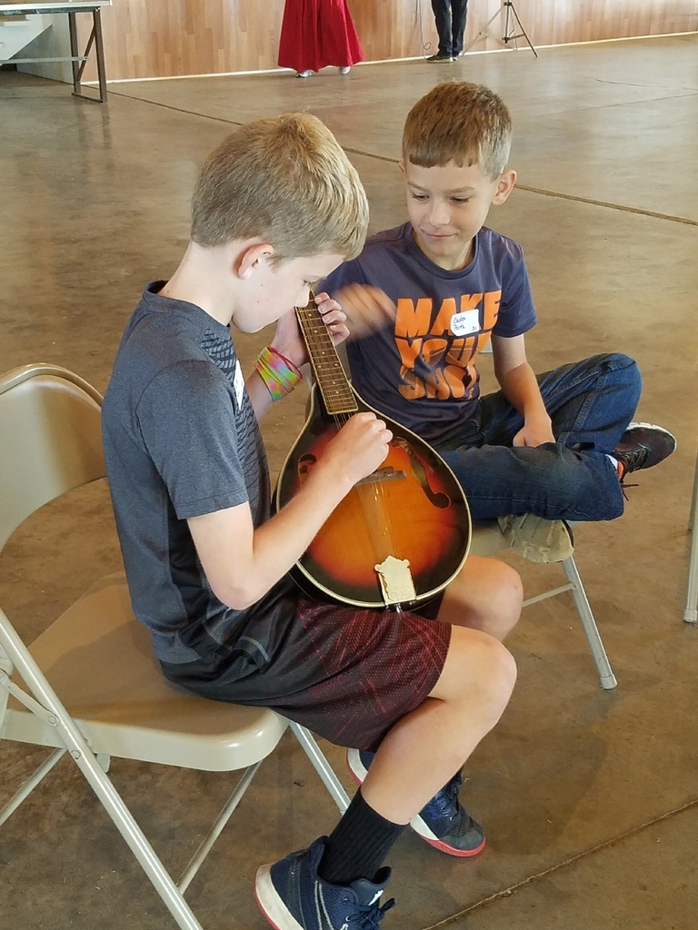 Learning about instruments.