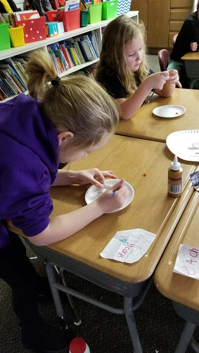 Painting our snowmen